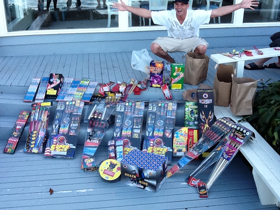 Tony's Haul of Fireworks