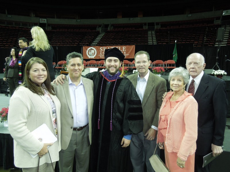 Family Gathers after Graduation
